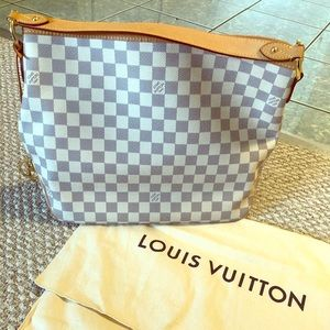 Louis Vuitton Delightful PM in Damier Azur